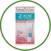 Nature's Cure Two-Part Acne Treatment For Women