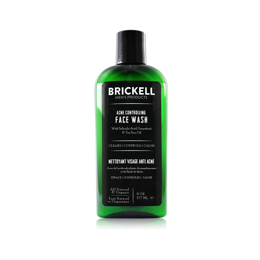 Brickell Men's Acne Controlling Face Wash for Men